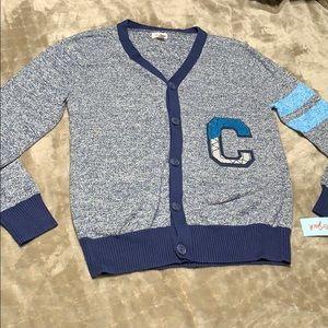 Cat and jack boys blue varsity sweater